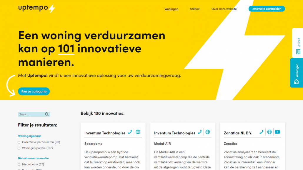 Website Matchingtool Uptempo.nu